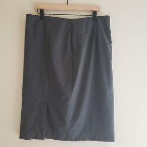 Talbots Italian Flannel Wool Pencil Skirt
